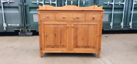 Quality and very solid pine cupboard sideboard chest drawers bathroom