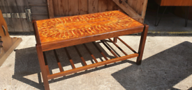 Price includes delivery for East London Tiled Teak Coffee Table 70s