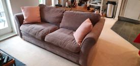 Harveys 3 seater sofa in mink grey - good condition