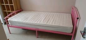 IKEA GIRLS PINK SINGLE BED