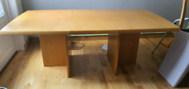 Oak dining room table Danish made