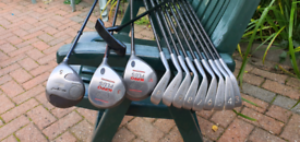 Graphite golf clubs⛳🏌♀️ set of Spalding range Irons, Hippo Woods