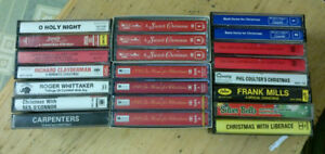 22 Christmas Music Cassette Tapes