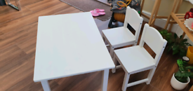 Solid wood Kids Table and 2 Chair set