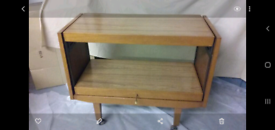 Vintage retro Metamorphic space saver table on castors
