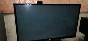 LG Plasma 60 inch TV with Apple TV 2nd gen and mount