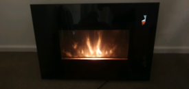 LED electric fire / heater in good condition with glass front