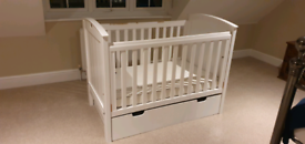 Boori 3-in-1 cot bed with drawer and mattress