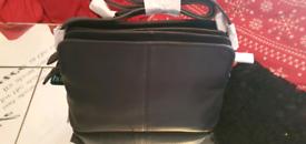 Hotter navy leather handbag - Brand New