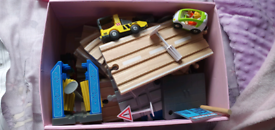 Train/car wooden track