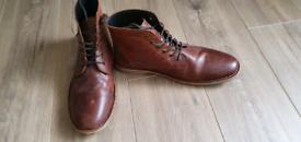 ASOS Brown Leather boots, size 13