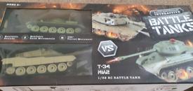 Battle tanks radio controlled