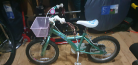 Girls Sparkle Bike with matching Stabilisers