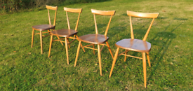 Price Includes delivery London 4 x Adult Ercol Stacking Chairs Mid century Retro Vintage