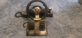 Steering wheel & Pedals 4 month old