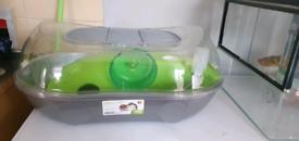 Viv and plastic cage