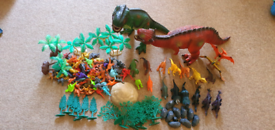 Dinosaurs play set with accessories.