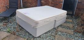 Double mattress, divan and headboard
