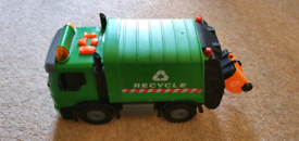 Recycle bin lorry truck van with music lights and sounds.