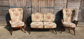 Price includes delivery for London Ercol 3 piece suite 2 armchairs & 2 seater sofa
