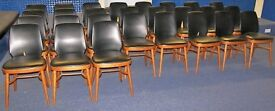 "36 IMPERFECT ""Benchairs"" Stacking Wooden Chairs, Office, School, Dining, Cafe, Canteen, Functions"