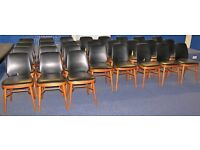 """36 IMPERFECT """"Benchairs"""" Stacking Wooden Chairs, Office, School, Dining, Cafe, Canteen, Functions"""