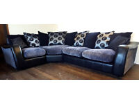 Corner Sofa Grey/Black Can deliver