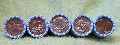 ALL 5 GEM BANK-WRAPPED ROLLS WESTWARD JOURNEY PEACE KEELBOAT BUFFALO OCEAN 2006D