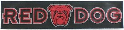 "Large Red Dog Beer Rubber Patch 3½"" X 14¾"" Reflective NEW"