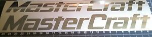2 Large MasterCraft Decal in polished silver (chrome) Premium Vinyl 24in sticker