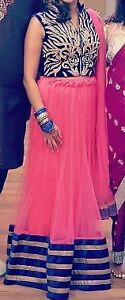 Indian wear - pink and blue/gold lengha