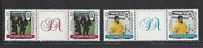 PITCAIRN ISLANDS - 275-276 - MNH - GUTTER PRS- 1986- PRINCE ANDREW ROYAL WEDDING