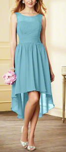 Alfred Angelo Pool Bridesmaid Dress (Style 7298S)-Size 2