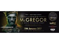 Conor mcgregor event city £75