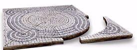 SEVEN LINES – Patio Paving Kit, Pre Assembled - Natural Granite Setts ( 4m2 )