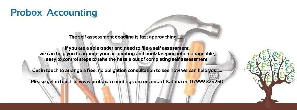 Book Keeping/Self Assessment Service **Consultation is FREE**
