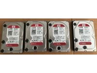 Four WD Red 3TB drives