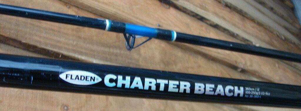 12ft Fladen Charter Beachcaster Rod 100 250g With Fladen