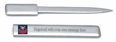 Gs Letter Opener - U.S Navy Chief Red E-7 Gas Turbine Systems Technician GS Engraved Letter Opener