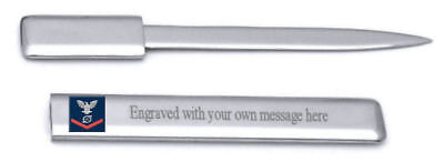 Gs Letter Opener - U.S Navy Red E-4 Gas Turbine Systems Technician GS Engraved Letter Opener