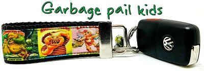 "Garbage Pail Kids Key Fob Wristlet Keychain 1 1/4""wide Zipper pull Camera strap , used for sale  Shipping to India"