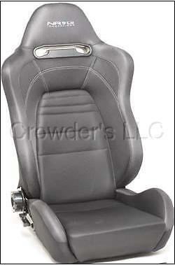 Nrg Seats Evo Style W/ Logo Black/gray Reclines Pair