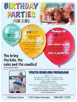 BOWLING BIRTHDAY PARTIES AT CHATEAU LANES