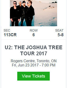 U2 VIP PARTY PASSES Toronto June 23