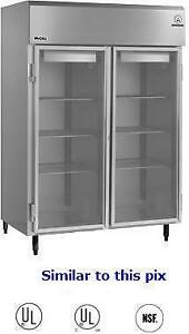 3 Glass door upright Display Freezer - McCall Refrigeration - used - good condition - 4 available