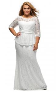 White Formal , wedding, evening Lace Dress size 18-20 Cornubia Logan Area Preview