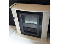 Dimplex coal effect lounge electric fire/ heater with surround