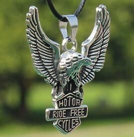 Modern Eagle Pendant Necklace For Men -alloy