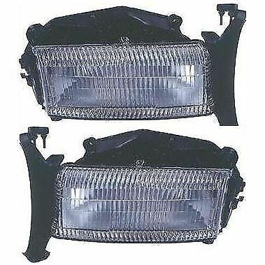 Headlight Set For 97-2004 Dodge Dakota 98-2003 Durango Left & Right w/ bulb