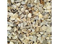 20 mm York cream garden and driveway chips/gravel/ stones